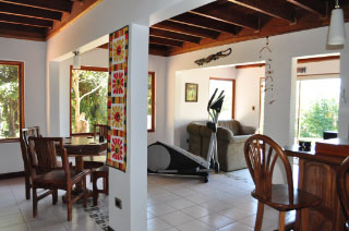 Casa Cielo Elliptical, Bar, and Living Area