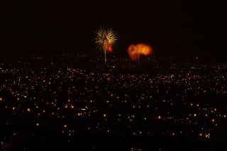 City Lights and Occasional Fireworks - View from Casa Cielo