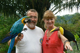 Macaw and Toucan with Lisa and Brian, near Jaco